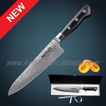 "Huiwill Takeful Japanese VG10 Damascus steel 8"" kitchen chef knife Cleaver with forged Fiber Glass handle free shipping"