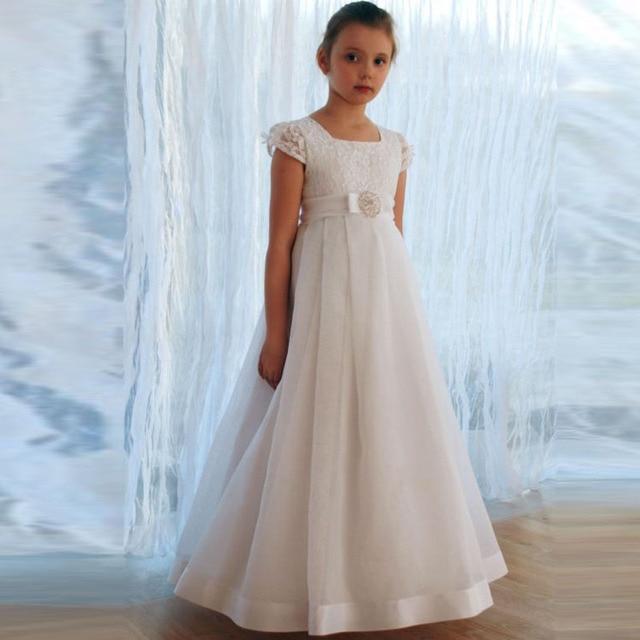 494b5981c Vestidos de comunion ninas 2017 Encaje Vestidos de Flores Niña Vestido de  Comunión Vestidos de Primera