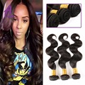 3 Bundle Alimice Hair Products 2017 Style Raw Indian Virgin Hair BodyWave Remy Indian Wet And Wavy Human Hair Weave Bundle Deals