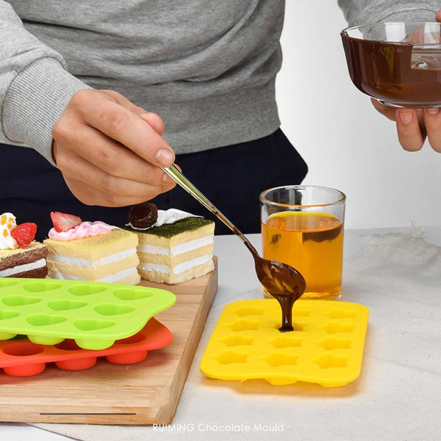 2018 TOP FASHION Silicone Freeze Mold Bar Pudding Jelly Chocolate Maker Mold 12 Ice Cube 0529