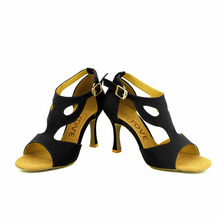 YOVE Dance Shoes Women's Latin/ Salsa Dance Shoes 3.5″ Flare High Heel More color w146-20