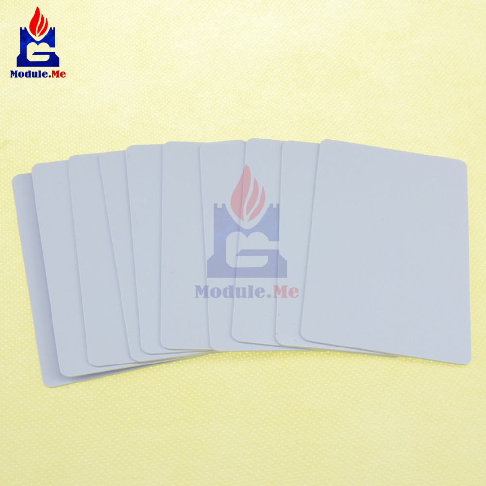 10Pcs 1K NFC IC Smart Card 13.56MHz Read Write RFID for Arduino