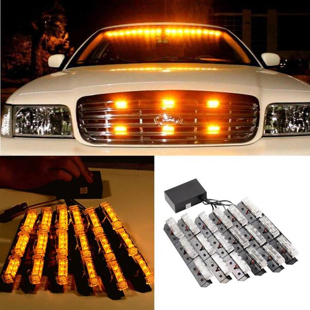 Car styling led warning light yellow car truck strobe emergency bars car styling led warning light yellow car truck strobe emergency bars deck dash grill mozeypictures Gallery