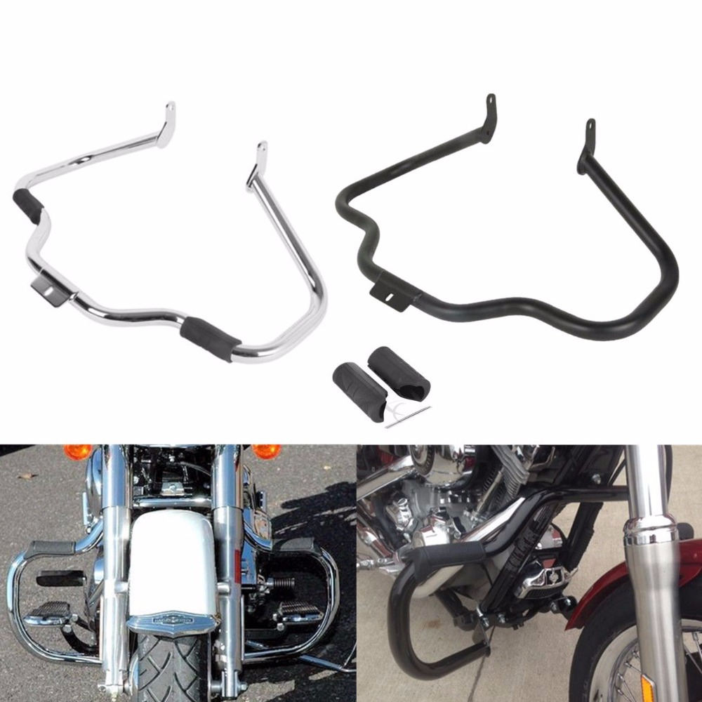 Motorcycle Mustache Engine Guard Highway Bar For Harley Softail Classic Slim Fat Boy Heritage CVO Softail