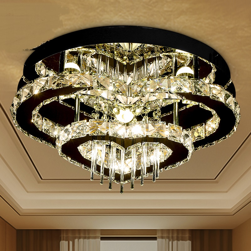 modern simple Crystal led ceiling lamp heart  double ring main bedroom light ceiling light house aisle restaurant ZA1128550 стулья для салона led by heart 2015