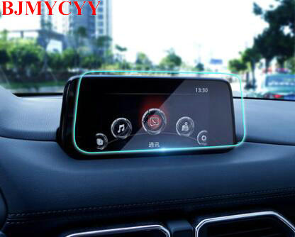 BJMYCYY Car Styling GPS Navigation Screen Tempered Steel Protective Film for Mazda cx5 cx-5 2017 2018 bjmycyy car styling car button start button decoration ring for mazda cx 5 cx5 2nd gen 2017 2018
