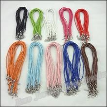 40 шт./3 мм Плетеный кожаный шнур ожерелье застежка Омар подходит аксессуары DIY Браслеты и ожерелья
