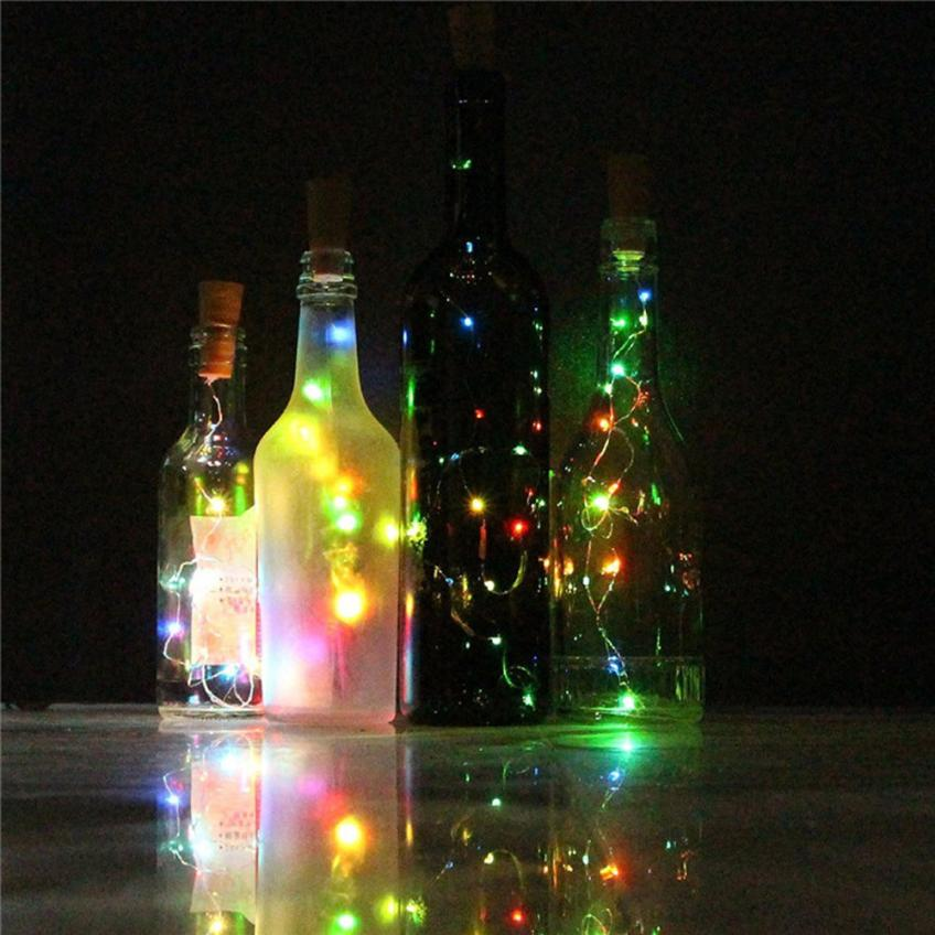 Party Wedding Decoration Wine Bottle Cork Lights Copper Wire String