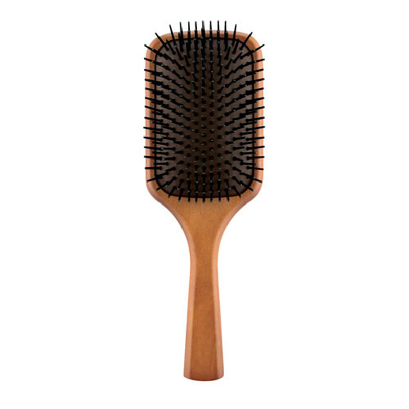 Massage Comb Paddle Brush Antistatic Combanti-static Natural Wooden Hairbrush Scalp Massaging Shampoo