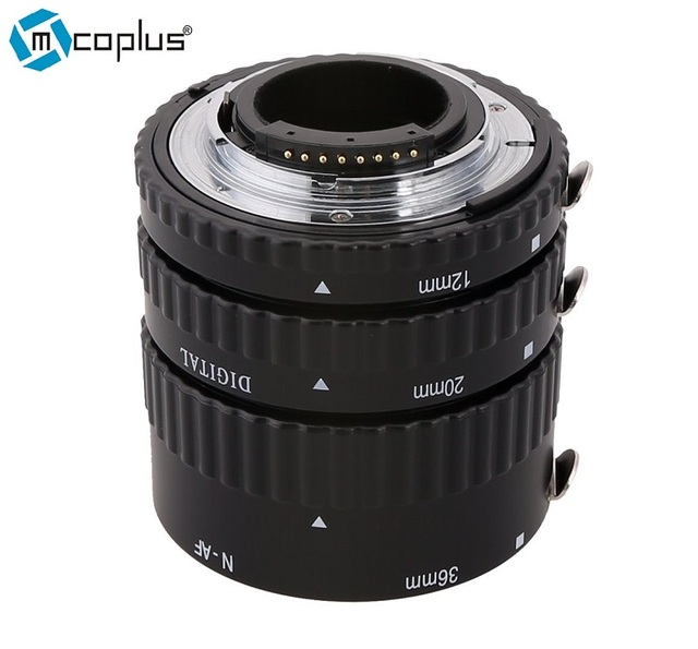 Mcoplus N-AF-A Metal Mount Auto Focus AF Macro Extension Tube for Nikon D7100 D7000 D5300 D800 D750 D600 DSLR Camera