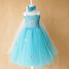 цена на Dress Girl 10 Baby Wedding Dresses Newborn Elegant Blue Tutu Girls Birthday Party Princess Ball Gown Cosplay Frozen Snow Queen