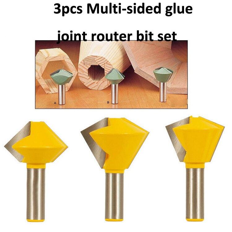 Freeshipping 3pcs wood engraving machine cutter/ Multi-sided glue joint bits 1/2-Inch Shank ручка телескопическая д gs 3 7 li multi cutter