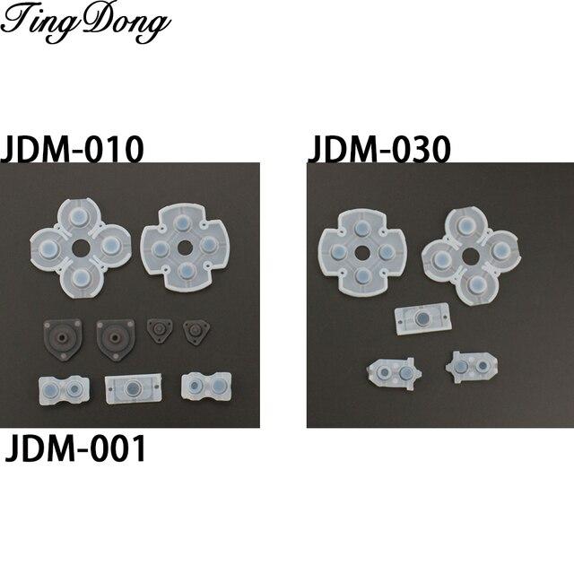 100 Set voor Sony Playstation 4 PS4 Controller Geleidende Siliconen Rubber Pads voor Dualshock 4 Knoppen Reparatie Vervanging Deel