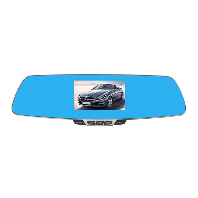 Anytek New T6 HD 1080P Rear view Mirror Car Video Recorder Car DVR Dash Cam Camcorder Double Lens Dashcam Car Registrator