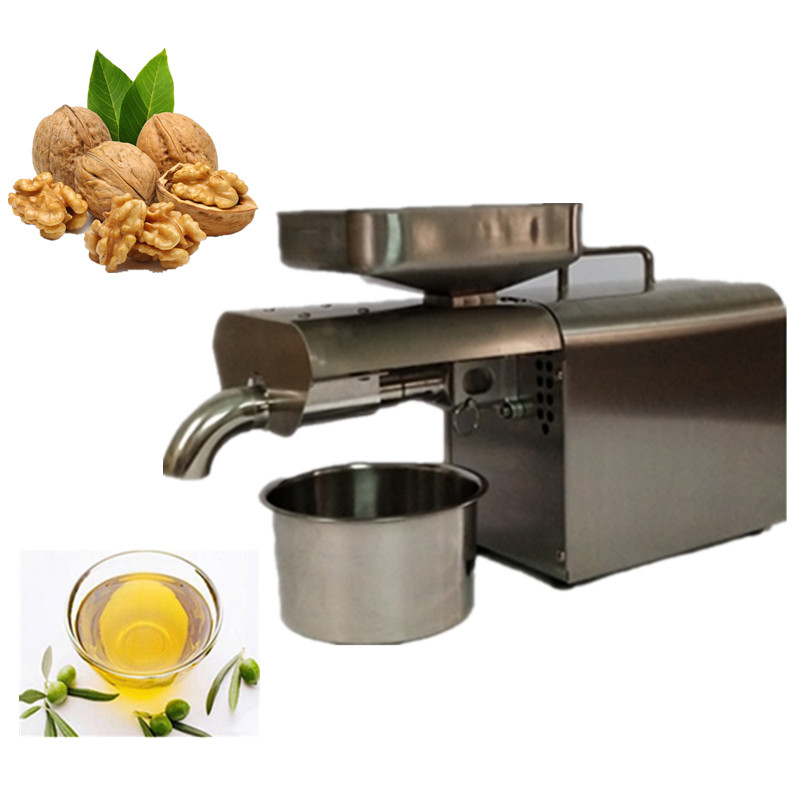 Commercial hot cold press grape seed oil extraction machine soybean oil making machine hot sale 110v or 220v coconut oil press machine grape nut seed automatic abs plastic pressure high oil extraction