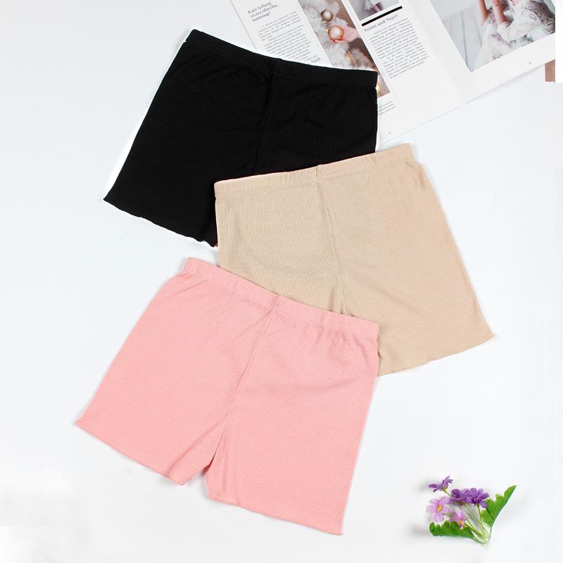 2018 New Women Soft Cotton Seamless Safety Short Pants Hot Sale Summer Under Skirt Shorts Plus Size Breathable Short Tights (1)