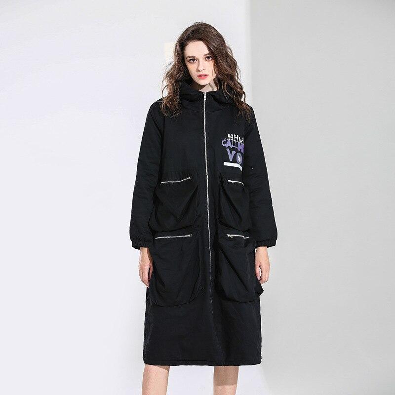 Femme Épais Zipper Vent Plus De Kg La A0az20 100 Veste Impression Lâche Pour À Wear Taille Mode Mot Longue Lady Manteau 3032 Capuchon A0a Windcoat wO8nPNkZ0X