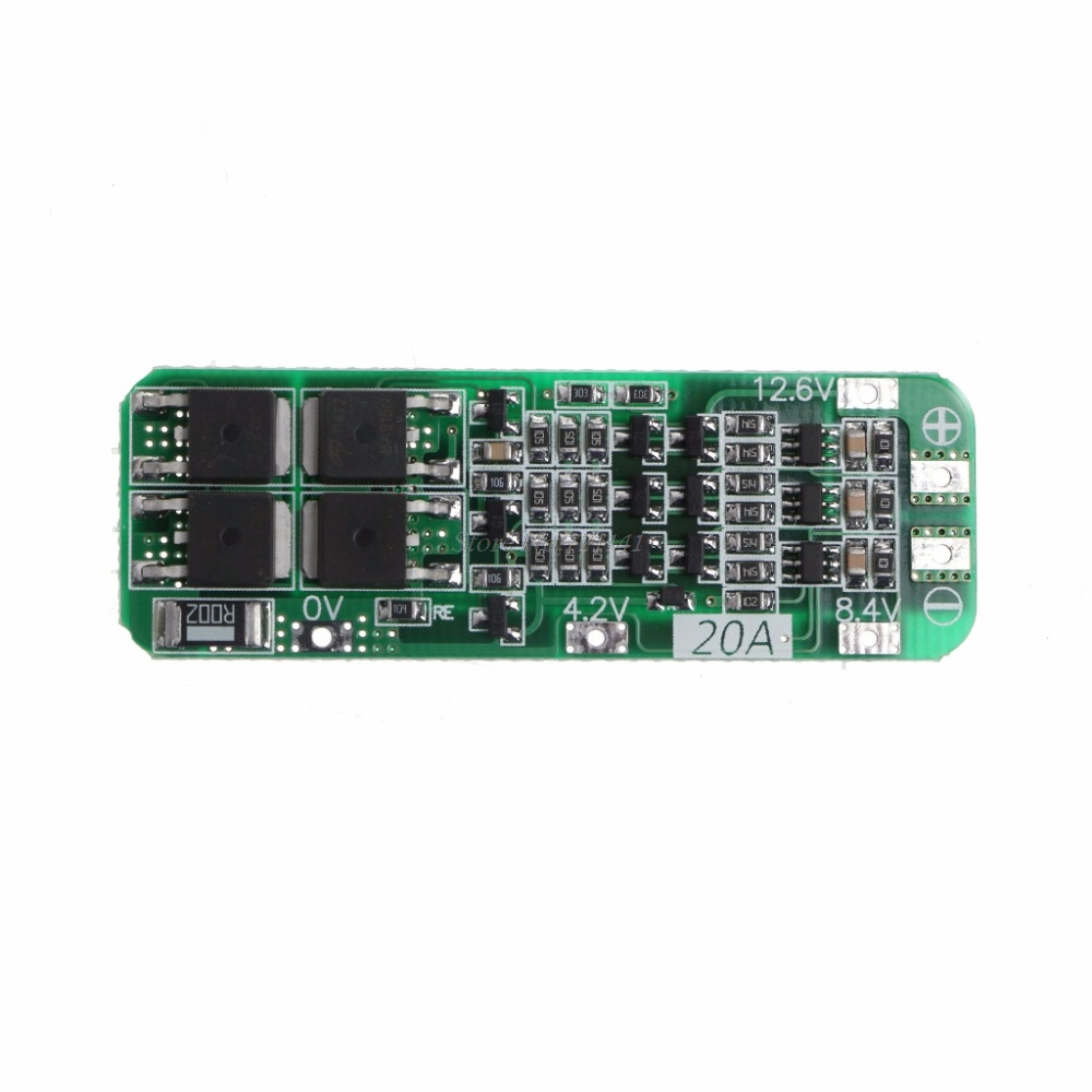 <font><b>3S</b></font> 20A Li-ion Lithium Battery 18650 Charger PCB BMS Protection <font><b>Board</b></font> 12.6V Module Dropship image