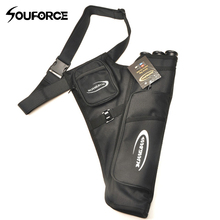 3 Color 3 Tubes Arrow Quiver for Archery Hunting Arrows Holder Bag with Adjustable Strap недорого