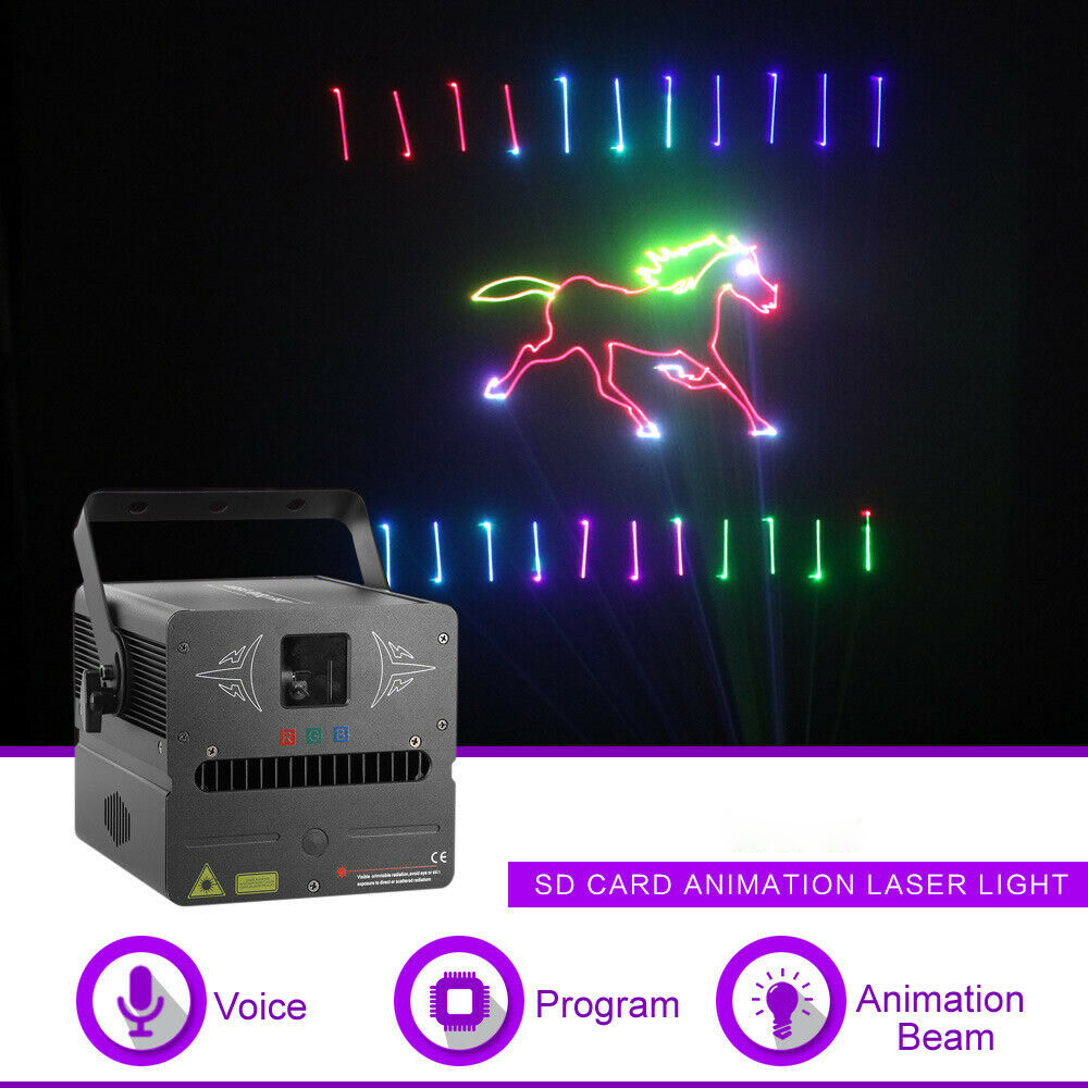 Free Shipping 2W RGB 3 In 1 Full Color Dynamic Amimation Laser Stage Effect Light Beam Spot DMX Control For Disco Dj Lighting