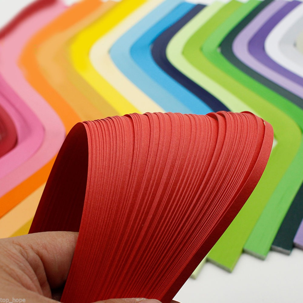 DIY 120 Stripes Quilling Paper 5mm Width Multiple Solid Color Origami Paper Hand Craft Decoration Pressure Relief Gift  #259127
