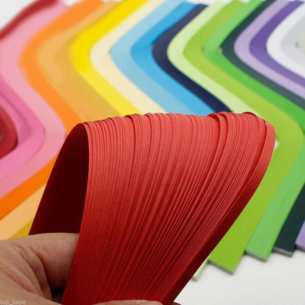 200 Tiras 3mm Quilling Tiras Papel Papercraft Hágalo usted mismo Craft Color 80g Naranja Fluo