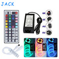 Waterproof IP65 5M 300 Leds SMD 5050 RGB lights led strips 60 leds/M + remote controller + 12V 5A power supply