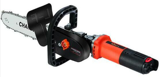 980W 11000rpm Adjustable Electric 100 Angle Grinder M10 Chainsaw Woodworking Cutting Chainsaw Bracket Change Grinder
