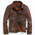 2015 Nuevo estilo Antiguo de cuero de piel de Becerro de Los Hombres Delgados chaquetas