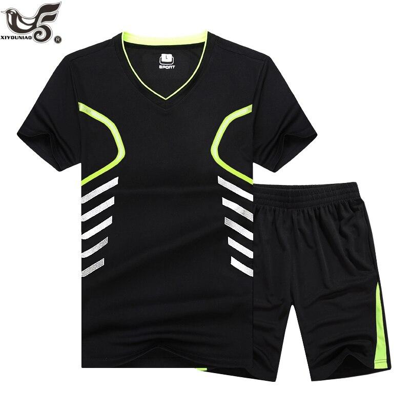 XIYOUNIAO Plus Size M~6XL 7XL 8XL 9XL Tops&Tees Casual Men Quick Dry Sportswear T-shirt Sporting Suit T Shirt Men Tracksuit Sets