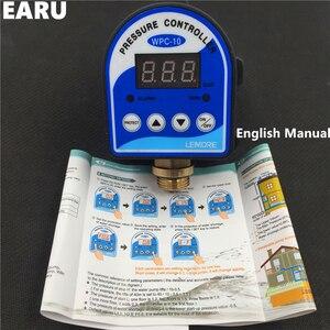 """Image 2 - 1pc WPC 10 cyfrowy przełącznik ciśnieniowy wody cyfrowy wyświetlacz WPC 10 Eletronic regulator ciśnienia do pompy wodnej z adapterem G1/2"""""""