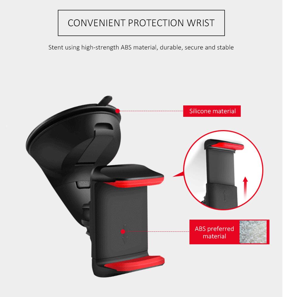 ESVNE Uniwersalny Telefon Samochodowy uchwyt szyby zamontować uchwyt na telefon komórkowy stojak uchwyt Samochodowy uchwyt na telefon Komórkowy Smartfon Telefon 10