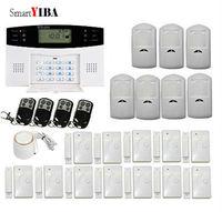 Smartyiba Беспроводной SMS охранной Охранной Сигнализации Системы Беспроводной дверь открытой движения Сенсор GSM сигнализация Наборы для дома б