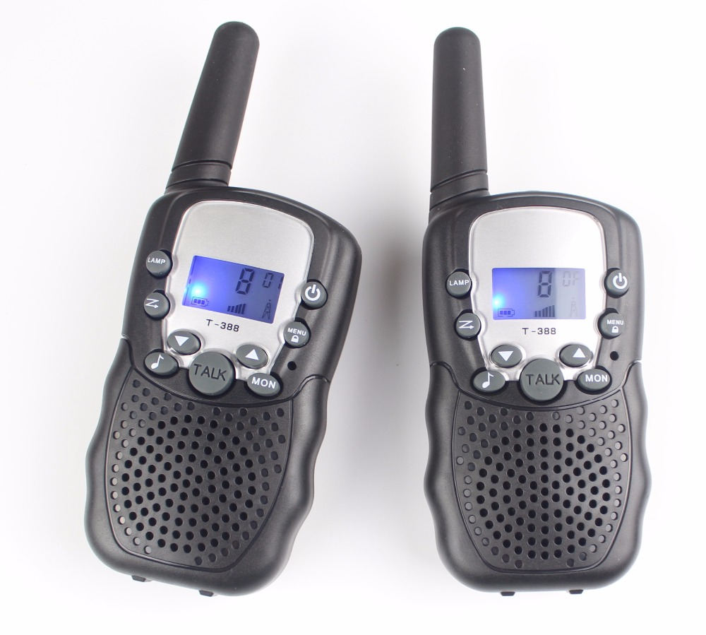 New kids 99 code T388 portable mobile Radio walkie talkie pair UHF PMR interphone FRS GMRS