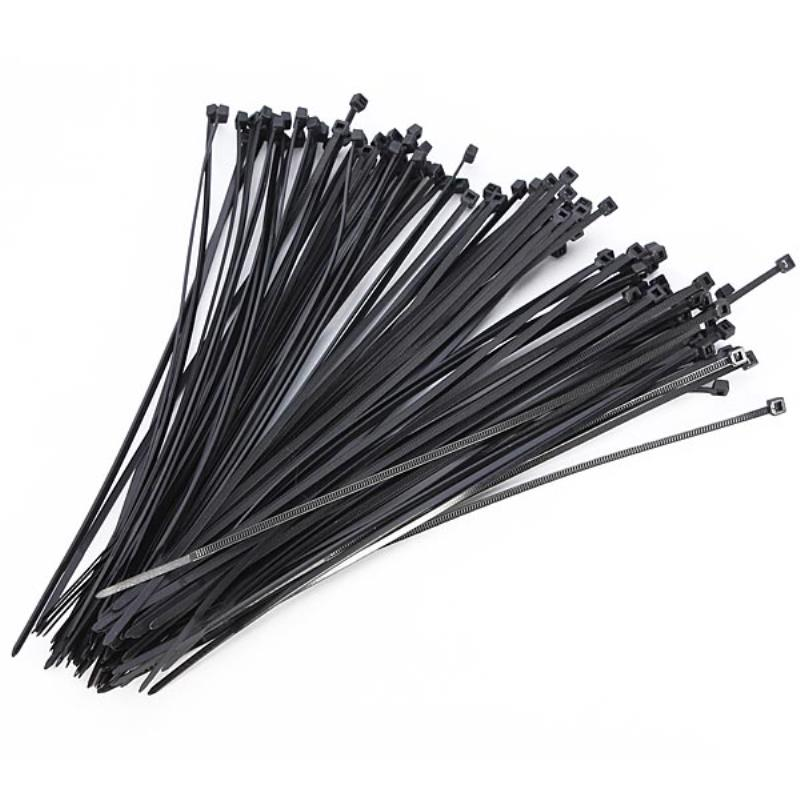 100pcs Black Nylon Cable Tie Self Locking Fasten Zip Cable Ties Wire Wrap Strap 3x200mm For Home Office Use 100pcs 12x800mm 12 800 201ss 304ss boat marine zip strap wrap ball lock self locking 201 304 stainless steel cable tie
