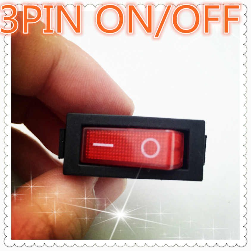 5pcs G132 RED LED Light 3PIN SPST ON/OFF Boat Rocker Switch 16A/250V 20A/125V Car Dash Dashboard Truck RV ATV Sell At A Loss promotion 5 pcs x red light illuminated double spst on off snap in boat rocker switch 6 pin