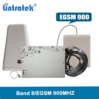 Lintratek EGSM 900Mhz signal booster 75dBi AGC&MGC cellphone gsm repeater LTE Band 8 network booster signal amplifier @4.9