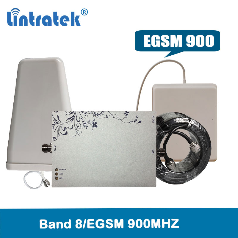 Lintratek EGSM amplificador de señal de 900 Mhz 75dBi AGC y MGC teléfono móvil gsm repetidor LTE banda 8 amplificador de señal de amplificador de red @ 4,9