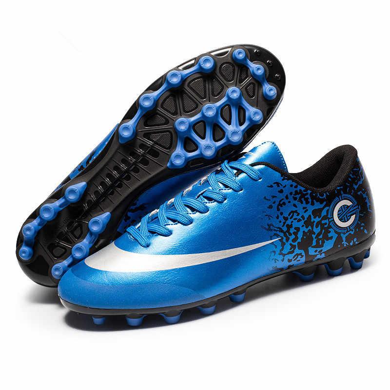 ZHENZU Professional Cheap Football Shoes Kids Men krampon futbol orjinal Outdoor  Football Boots Soccer Cleats Sneakers 718b1fed9a7a1