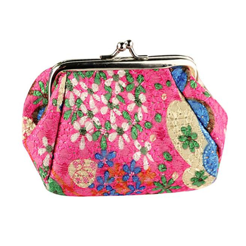 Carteras mujer Women Wallets Lady Retro Vintage Flower Small Womens Wallet Card Holder Wallet womens purse Woman portefeuille