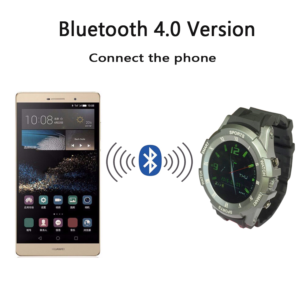 Keyou Sw12 Sport Smart watch Uhr Bluetooth Thermometer  Android 5.1 Ios  Gesundheit Heart Rate SmartWatch Mtk2501 1.22″ phone