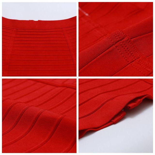Seamyla 2019 Pencil Skirts Women Red Blue Black Orange Bodycon Bandage Skirt Sexy Knee Length Striped Midi Skirt Club High Waist 10