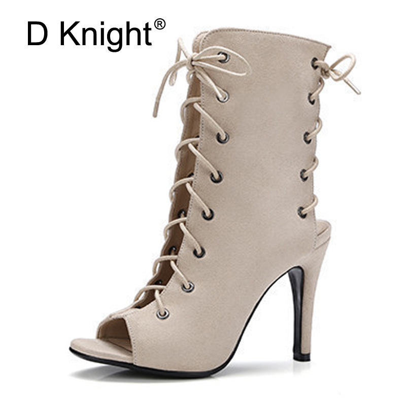 Woman Slingbacks Boots Sandals Peep Toe Gladiator High Heels Sandals Women Sexy Cross-tied Summer Pumps Shoes Woman Size 34-43 choudory gladiator sandals woman high sandalias botas femininas summer sexy cross tied women boots sandal shoes