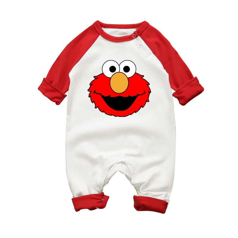 Baby Winter One-pieces & Jumpsuits Elmo Cookie Monster Cartoon Newborn Boys Girls Clothing Set Long Sleeve Rompers 100% Cotton unisex baby boys girls clothes long sleeve polka dot print winter baby rompers newborn baby clothing jumpsuits rompers 0 24m