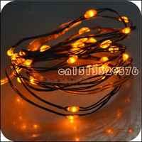 2 M 6.6FT 20 led 3 AA decoración a batería LED cobre/plata alambre Hada cadena luces para Navidad de vacaciones, fiesta de boda