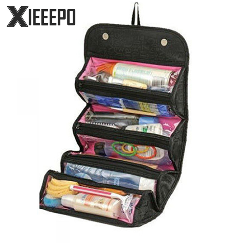 Hanging Travel Cosmetic Bag Women Zipper Makeup Case Letter Make Up Bags Necessaries Organizer Storage Pouch Toiletry Bag