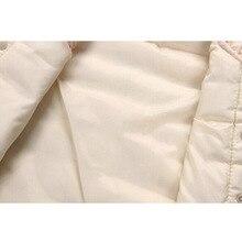 BibiCola Girls Kids Vests Children's Down Cotton Warm Vest Baby Girls Sweet Floral Waistcoat High Quality Kids Vest Outerwear