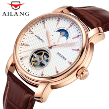 Luxury Brand Tourbillon Watch Men Business Casual Automatic Mechanical Watches Military Wristwatch Waterproof 50M Relogio 2017