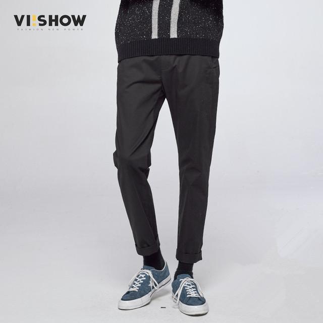 VIISHOW Homens Marca Calças Retas Homens Sweatpants Casual Calças Compridas Casuais Calças Hip Hop Roupas M-XXL KC18263