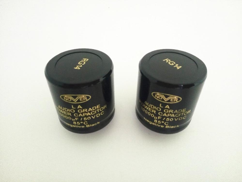 2pcs 6800uF//50V NOVER Audio Grade Power 85°C HiFi capacitor cap Negative Black